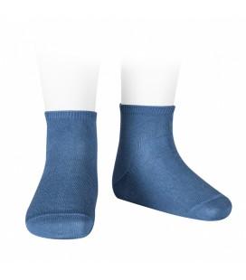 Cóndor - Calcetines tobilleros algodón elástico - Azul francia