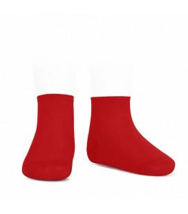Cóndor - Calcetines tobilleros algodón elástico - Rojo