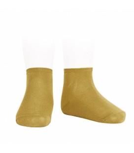 Cóndor - Calcetines tobilleros algodón elástico - Mostaza