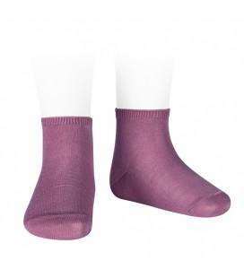 Cóndor - Calcetines tobilleros algodón elástico - Cassis