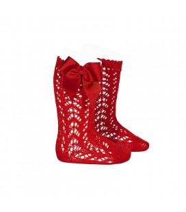 Cóndor - Calcetines altos calados con lazo - Rojo