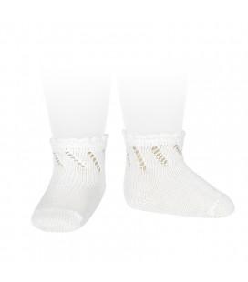 Cóndor - Calcetines cortos perlé calados - Blanco
