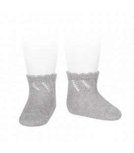 Cóndor - Calcetines cortos perlé calados - Aluminio