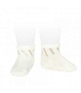 Cóndor - Calcetines cortos perlé calados - Cava