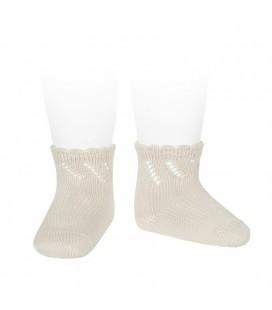 Cóndor - Calcetines cortos perlé calados - Lino