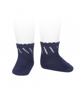 Cóndor - Calcetines cortos perlé calados - Marino