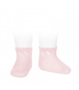 Cóndor - Calcetines cortos perlé calados - Rosa