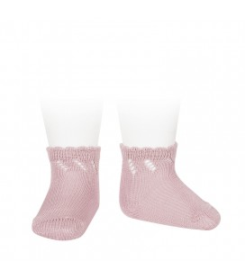 Cóndor - Calcetines cortos perlé calados - Rosa palo
