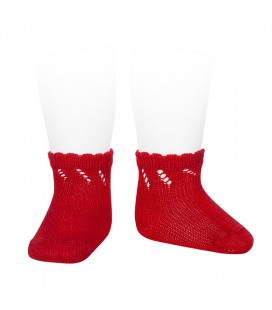 Cóndor - Calcetines cortos perlé calados - Rojo