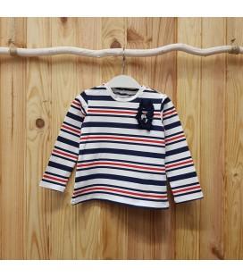 Birba - Camiseta rayas marinera para bebé