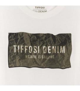 Tiffosi - Camiseta Nuno beige para niño