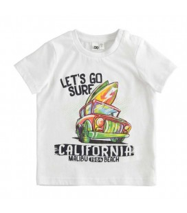 iDo by Miniconf - Camiseta blanca surf para niño