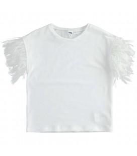 iDo by Miniconf - Camiseta blanca con tul para niña