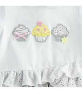 iDo by Miniconf - Pelele blanco y gris para bebé