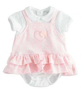 iDo by Miniconf - Pelele blanco rosa para bebé
