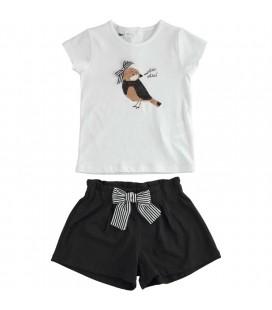 iDo By Miniconf - Conjunto blanco y negro para niña