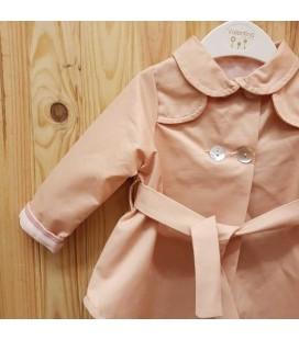 Valentina Bebés - Gabardina larga rosa empolvado para bebé
