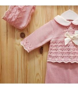 Babylis - Conjunto jubón, polaina y capota maquillaje para bebé