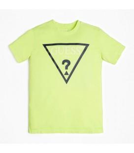Guess - Camiseta fluor amarilla