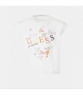 Guess - Camiseta blanca stras para niña