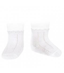 Cóndor - Calcetines cortos labrados - Blanco