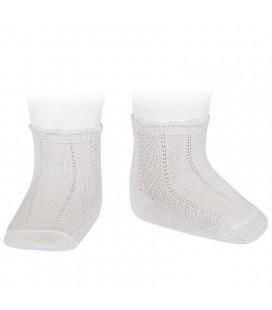 Cóndor - Calcetines cortos labrados - Nata