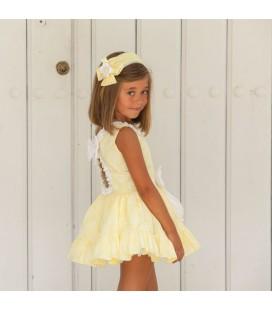 DBB Collection - Vestido talle bajo amarillo para niña