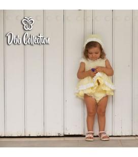DBB Collection - Jesusito amarillo con capota para bebé