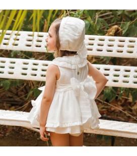 DBB Collection - Jesusito blanco con capota para bebé