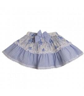 Newness - Falda estampada azul para niña