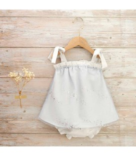 Dadati - Vestido tul azul claro para bebé