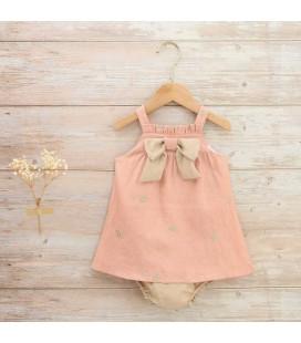 Dadati - Vestido rosa mariposas para bebé