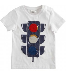 iDo by Miniconf - Camiseta blanca semaforo para niño