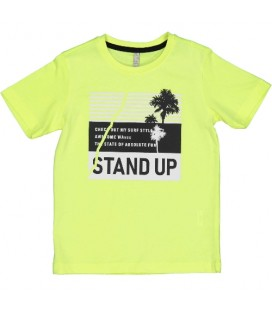 Trybeyond - Camiseta amarilla para niño