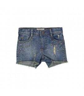 Trybeyond - Shorts vaqueros para niña