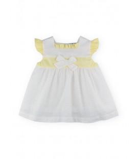 SARDON - Vestido plumeti Margarita para bebé