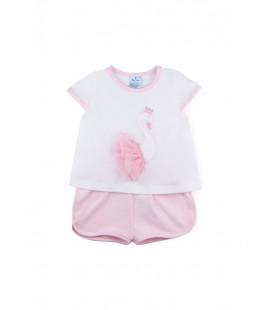 SARDON - Conjunto Cisne rosa para bebé