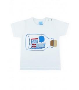 SARDON - Camiseta blanca Cretona para bebé