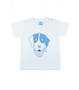 SARDON - Camiseta blanca Rayas para bebé