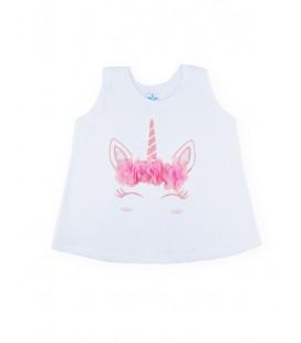 SARDON - Vestido Flores unicornio rosa para bebé