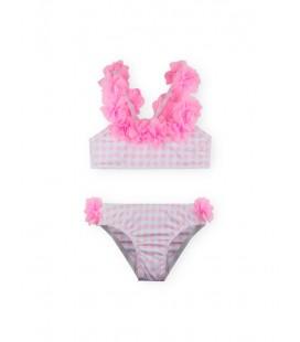 SARDON - Bikini Flores rosa para niña