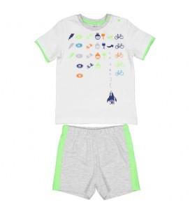 Birba - Conjunto blanco para bebé
