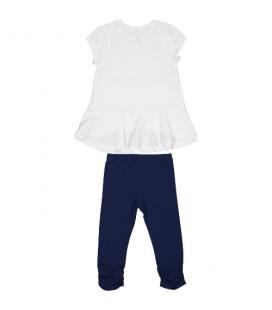Trybeyond - Conjunto blanco y marino para niña