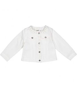 Birba - Chaqueta blanca para bebé