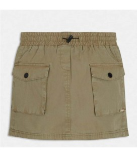 Guess - Falda verde militar para niña