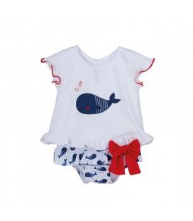 Calamaro Baby - Conjunto baño Chancletas para bebé