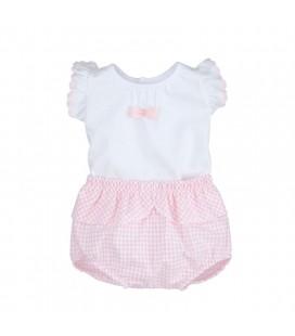 Calamaro Baby - Conjunto Niza rosa para bebé