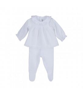 Calamaro Baby - Conjunto Tuban blanco para bebé