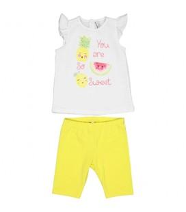 Birba - Conjunto blanco y amarillo para bebé