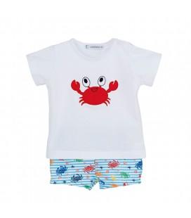 Calamaro Baby - Conjunto baño Cangrejo para bebé